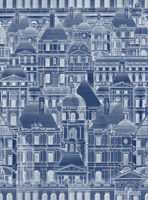 Mind the gap WP20021 - Louvre Blue