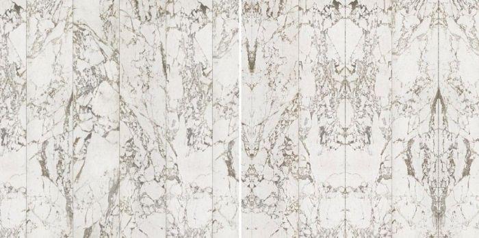 Papel pintado de mármol blanco y vetas grises