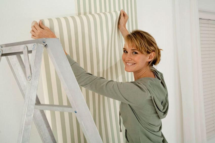 Pintar rayas sobre gotele best elije entre pintura a - Poner papel pintado sobre gotele ...