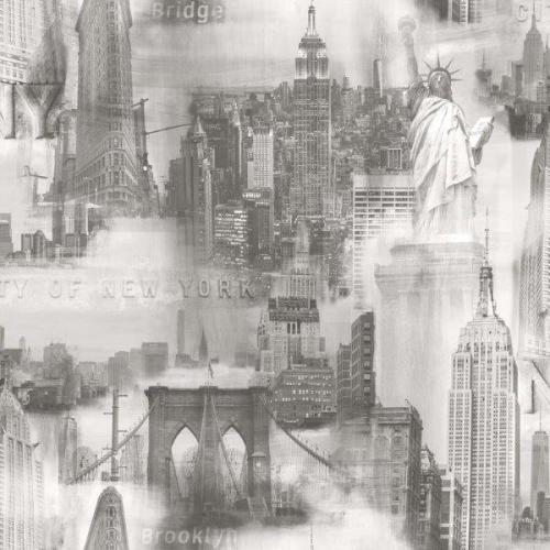 Papel pintado New york gris claro ref. 2721