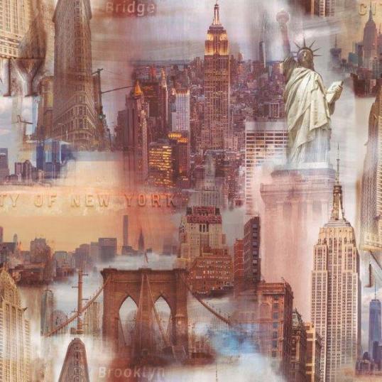 Papel pintado New York marrones ref. 2722