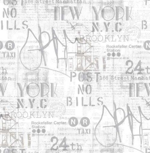 Papel pintado texto gris ref. 2742