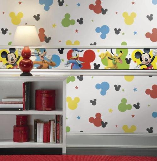 Papel pintado Mickey DY0208 y cenefa DY0203BD