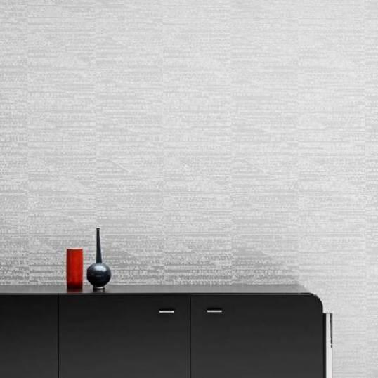 Ambiente papel pintado Forma con plata rf. 27061