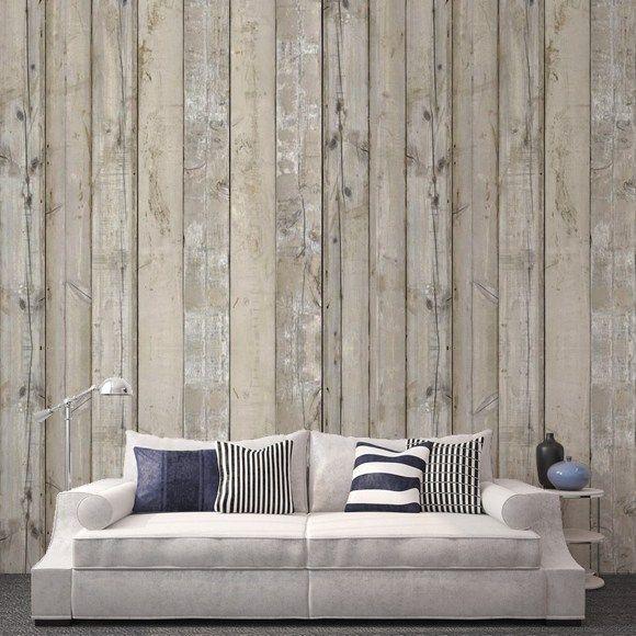 Papel de pared imitaci n madera da la bienvenida a la - Papel imitacion madera ...