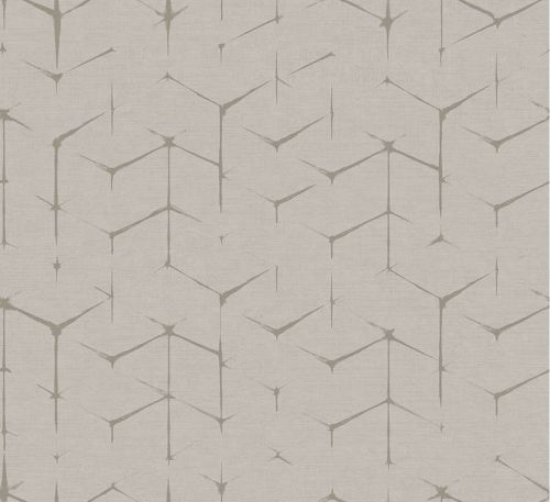 Papel pintado para paredes geométrico en beige