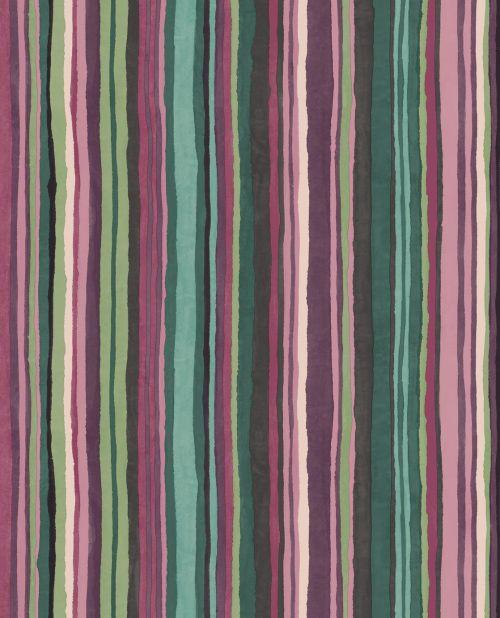 Papel para pared de rayas multicolores desiguales
