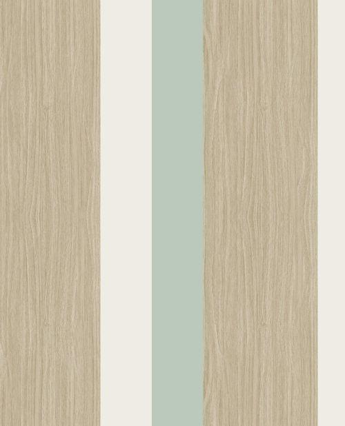Papel de rayas retro color turquesa y madera