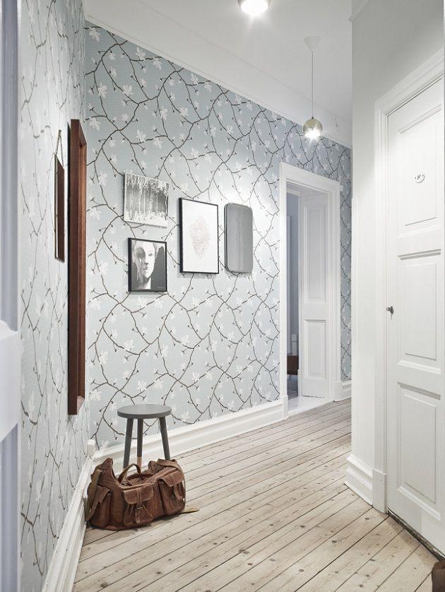 C mo decorar pasillos con papel pintado en papel deco - Decorar con papel pintado ...