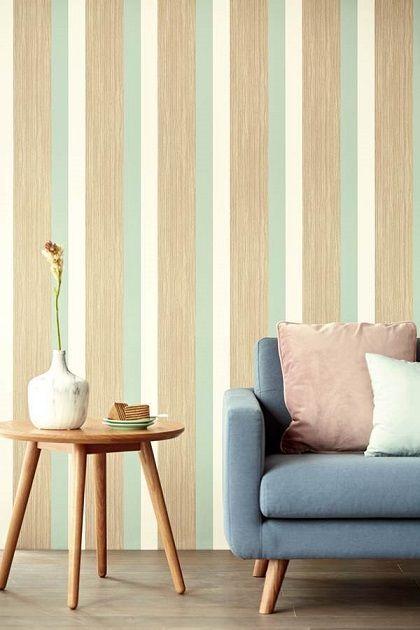 papel pintado rayas 2 - Papel pintado a rayas: Múltiples opciones para dar color a tus paredes
