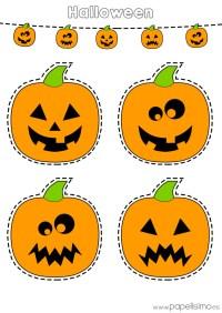 Dibujos de calabazas de Halloween para recortar