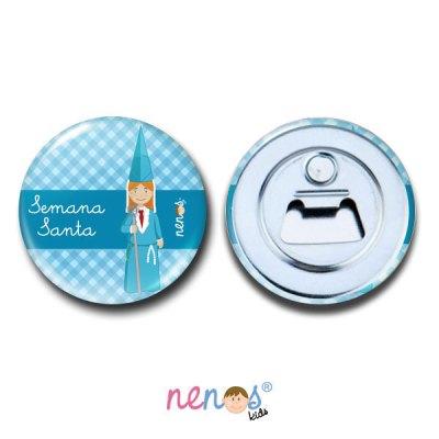 Imán Abrebotellas Personalizado Nazarena Azul