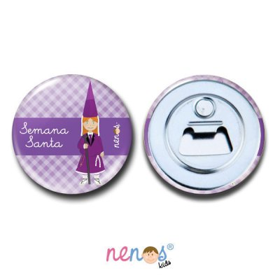 Imán Abrebotellas Personalizado Nazarena Lila