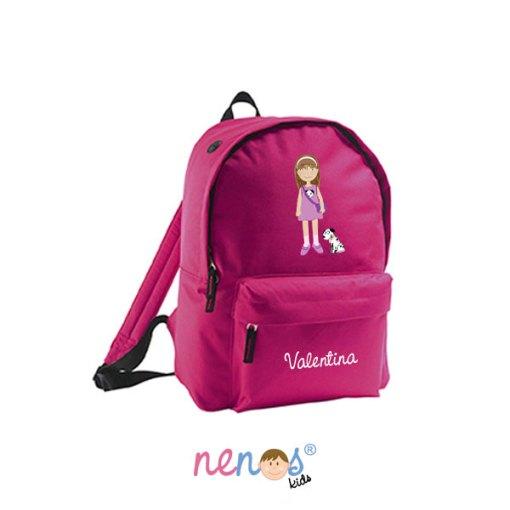 Mochila escolar personalizada Niña con Perrito