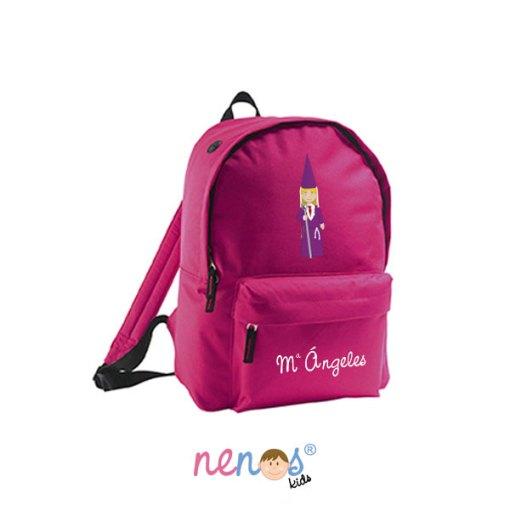 Mochila escolar personalizada Nazarena Lila 2