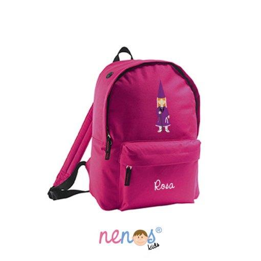 Mochila escolar personalizada Nazarena Lila