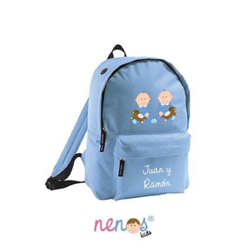 Mochila escolar personalizada Bebés Gemelos