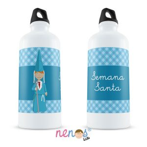 Botella Termo Personalizada Nazarena Azul
