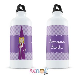 Botella Termo Personalizada Nazarena Lila 2