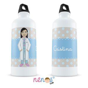 Botella Termo Personalizada Médico Mujer