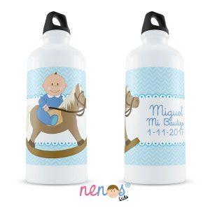 Botella Termo Personalizada Bebé Niño Caballito