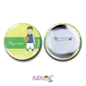 Chapa Imperdible Personalizada Baloncesto