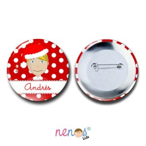 Chapa Imperdible Personalizada Niño Navidad
