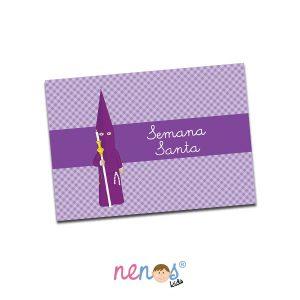 Salvamanteles Personalizado Nazarena Lila 2