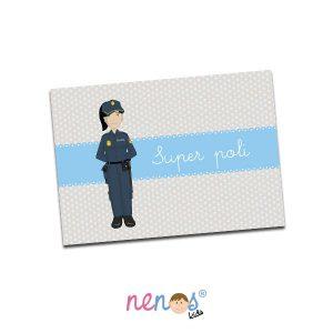 Salvamanteles Personalizado Mujer Policía