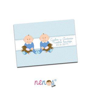 Salvamanteles Personalizado Bebés Gemelos