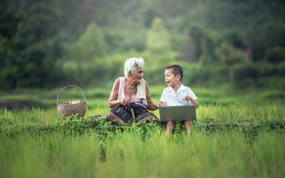 El día de los abuelos.
