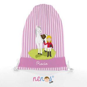 Bolsa de Piscina Niña con Caballo