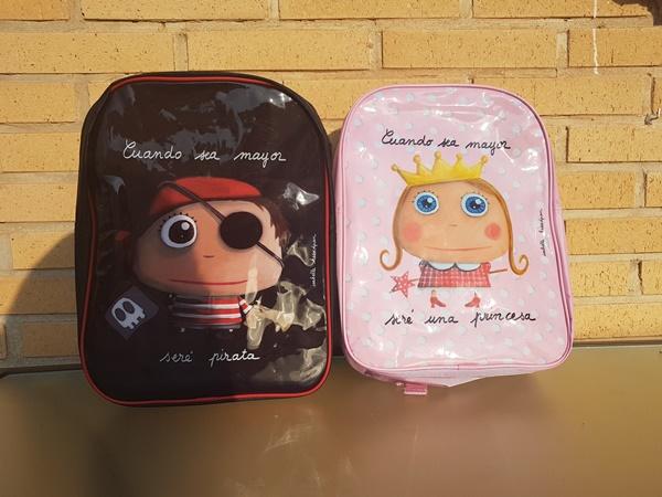 """Impresiones sobre las mochilas escolares """"cuando sea mayor, seré…"""""""