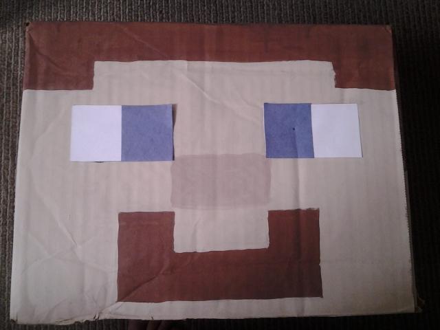 Cabeza de Steve Minecraft con caja de cartn  Papel