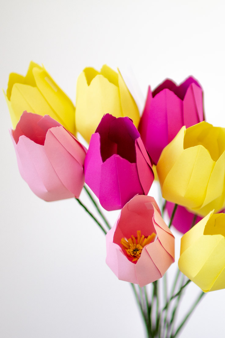 Vorlagen Blumen Aus Tonpapier