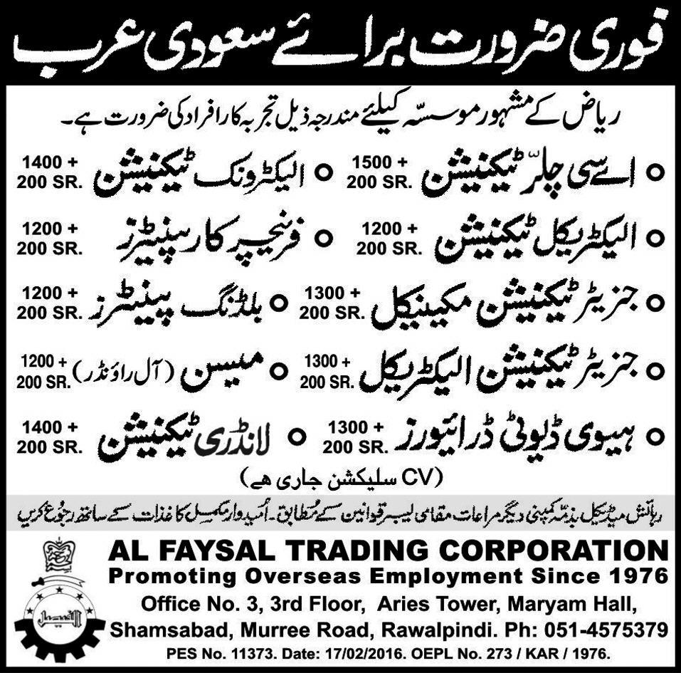 Multiple Urgent Jobs Available For Skilled Pakistanis At
