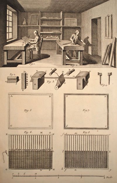 Figure 16. Mould, deckle, and mould surface manufacture.