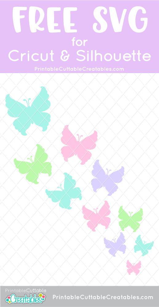 Cricut Butterfly Svg : cricut, butterfly, Flying, Butterflies, Cricut, Silhouette, Paper, Ideas