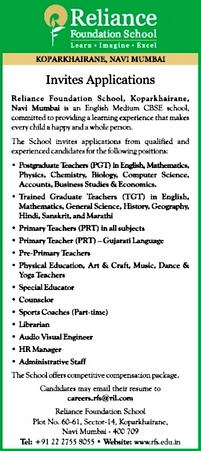 Job - Primary Teacher - Gujarati Language - Mumbai City, Thane - Learning &  Library - Timesascent.com