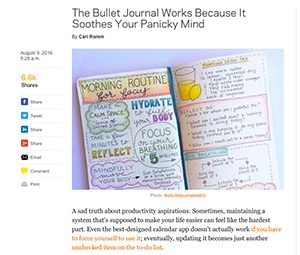 NYMag.com – The Bullet Journal Works Because It Soothes Your Panicky Mind