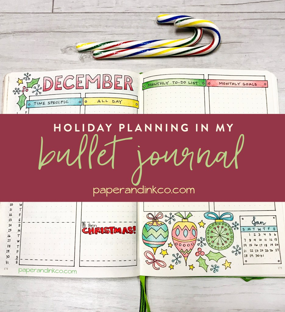 Holiday Planning in My Bullet Journal