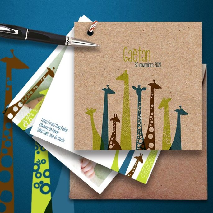 faire-part-naissance-girafe-en-papier-kraft