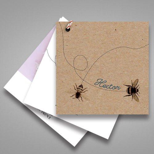 faire-partn-naissance-petite-abeille-en-papierkraft