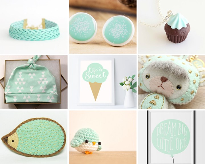 Pretty Mint Color – Etsy Collection