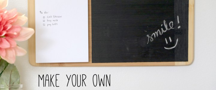 Notepad and Chalk Board – How to make it