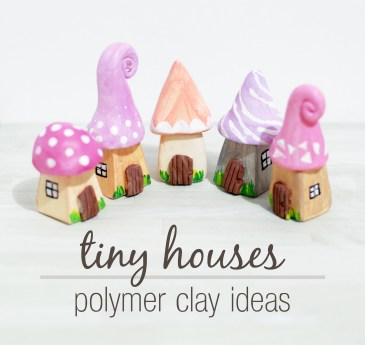 Polymer Clay Tiny Houses - Paper and Landscapes