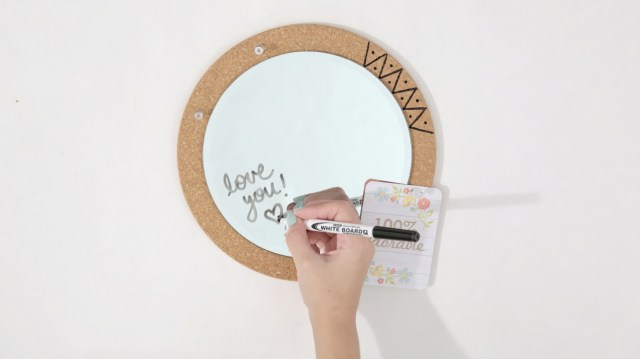 Mirror Pinboard - Paper and Landscapes