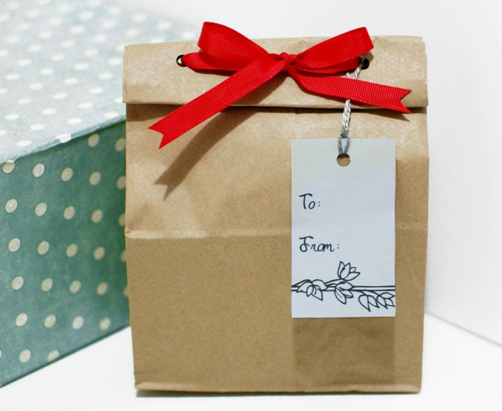 Paper Bag Gift Wrapping Tutorial