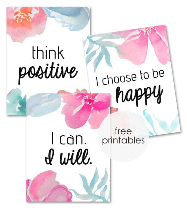 Positive Thoughts Posters – Free Printables
