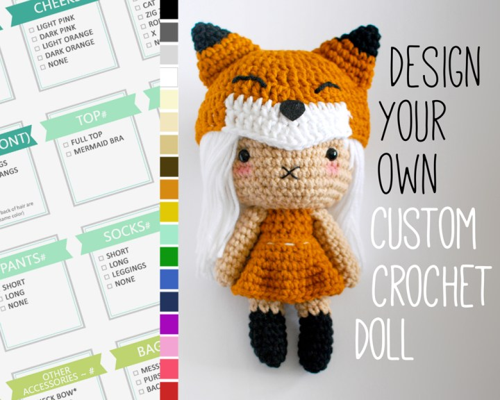 Design your own custom crochet doll